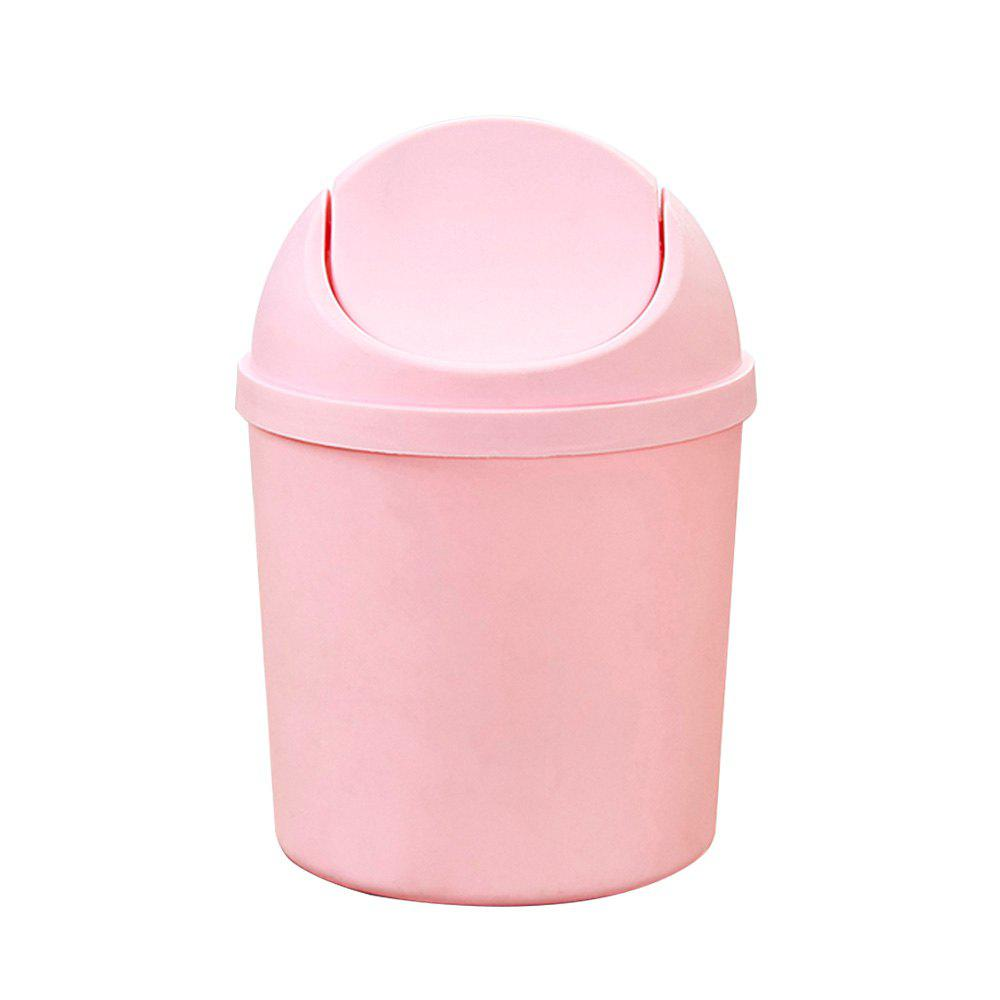 Desktop Mini Flap Trash Can - LIGHT PINK