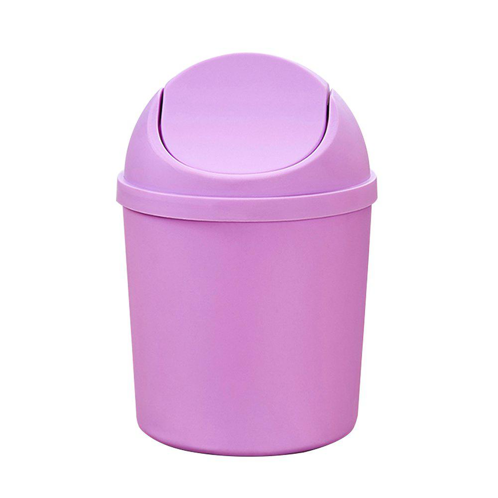 Desktop Mini Flap Trash Can - MAUVE