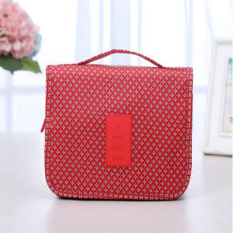 Cosmetic Hanging Storage Bag Travel Toiletry Makeup Case Organizer - RED