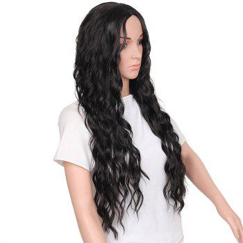 Fashion Long Loose Curly Synthetic Heat Resistant Wig For African American Women - BLACK 26INCH