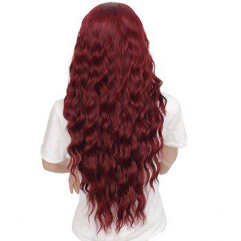 Fashion Long Loose Curly Synthetic Heat Resistant Wig For African American Women - RED WINE 26INCH