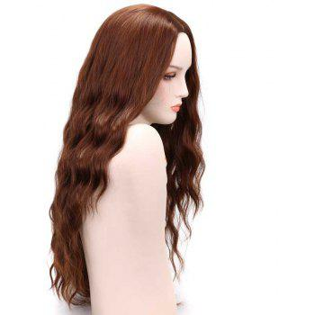 Fashion Long Loose Curly Synthetic Heat Resistant Wig For African American Women - BROWN 26INCH