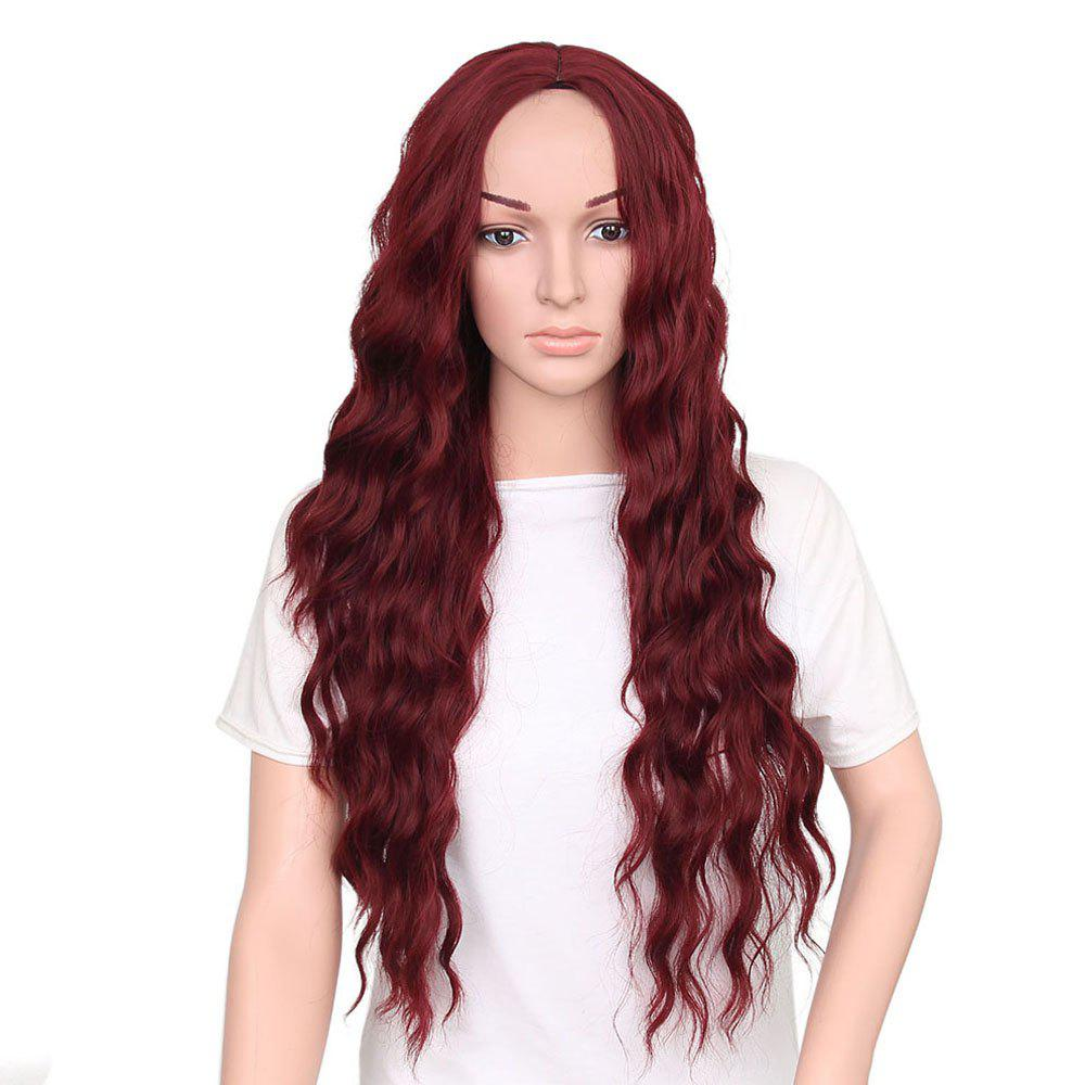 Fashion Long Loose Curly Synthetic Heat Resistant Wig For African American Women new hot heat resistant synthetic puffy short black wigs for black women natural african american wig with bangs free shipping