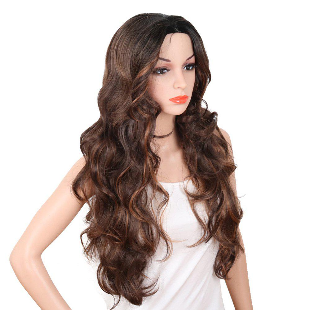 Red Super Long Body Wave Synthetic Hair Wigs Natural Hairline with Bang long hair wigs body wave synthetic wigs