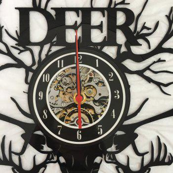 Vinyl Wall Clock Home Decoration Gifts - BLACK WITHOUT BATTERY