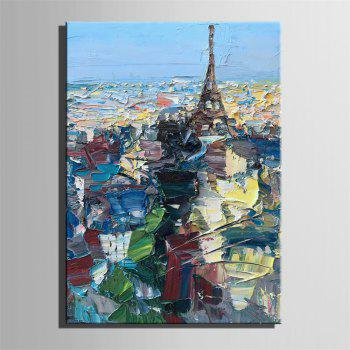 Special Design Frameless Paintings Paris City Print - multicolor 16 X 11 INCH (40CM X 28CM)