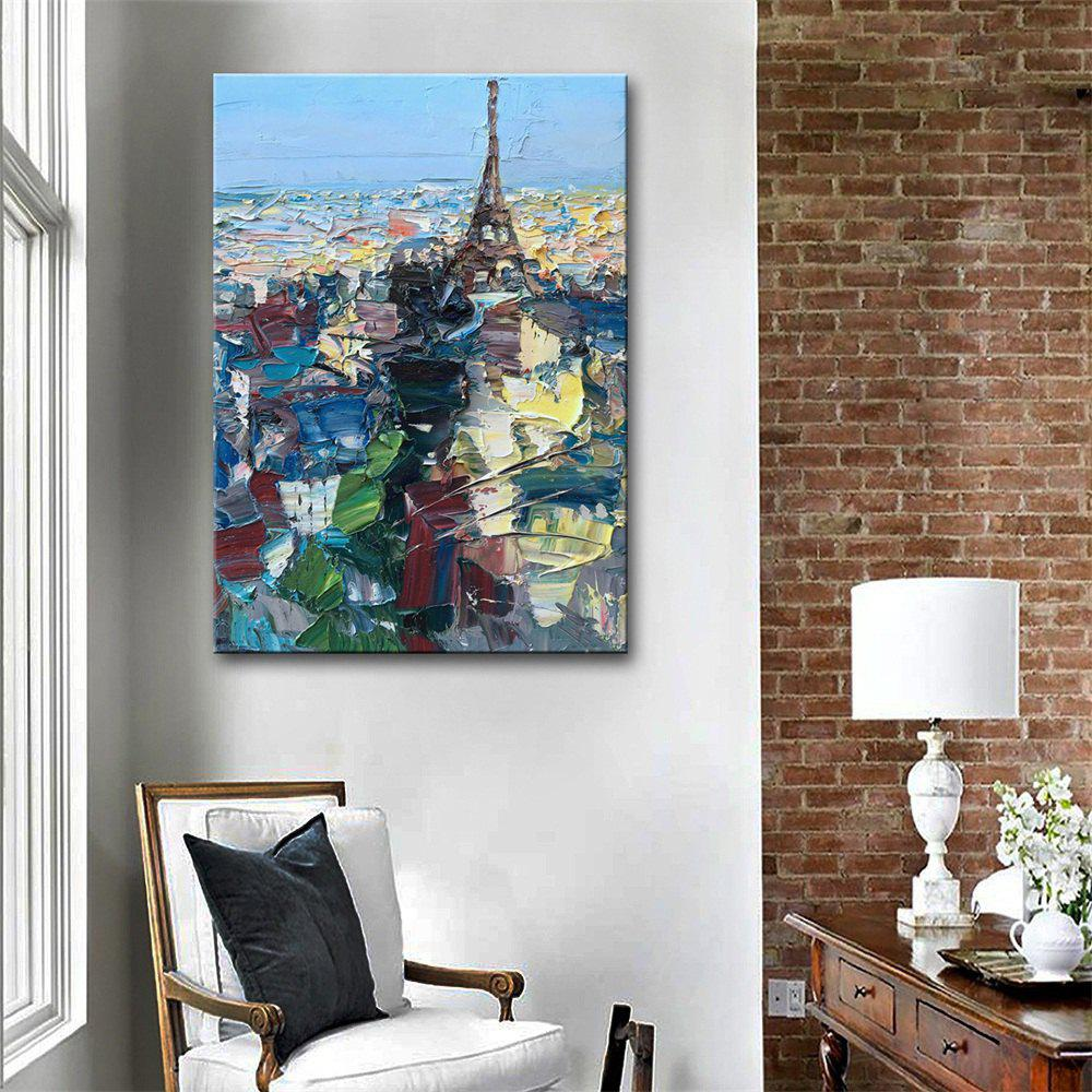 Special Design Frameless Paintings Paris City Print - multicolor 20 X 14 INCH (50CM X 35CM)