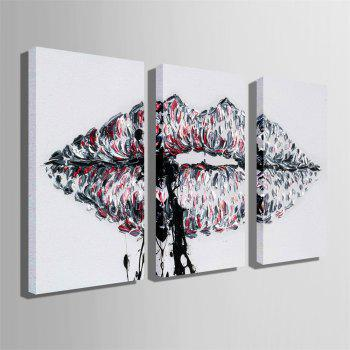 Special Design Frameless Paintings Lips Print 3PCS - multicolor 20 X 14 INCH (50CM X 35CM)