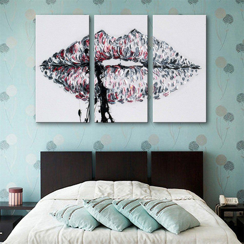 Special Design Frameless Paintings Lips Print 3PCS - multicolor 20 X 28 INCH (50CM X 70CM)