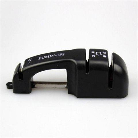 Household Kitchen Multipurpose Sharpener All Kinds of Cutting Tools - BLACK
