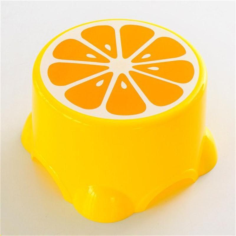 Creative Cute Fruit Shape Kindergarten Bathroom Anti Skid Stool - YELLOW