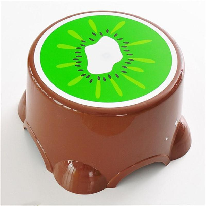 Creative Cute Fruit Shape Kindergarten Bathroom Anti Skid Stool - multicolor B