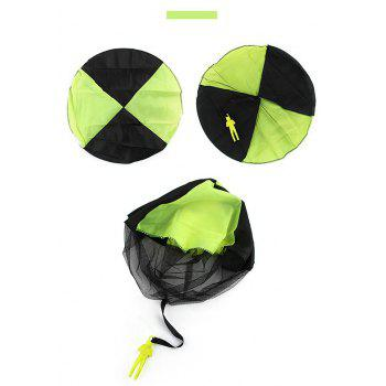 Kids Hand Throwing Parachute Toy Outdoor Fun and Sports Play Game - GREEN