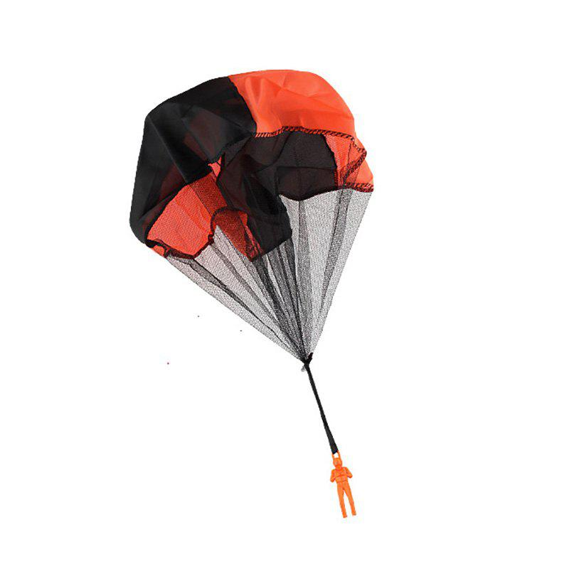 Kids Hand Throwing Parachute Toy Outdoor Fun and Sports Play Game - ORANGE