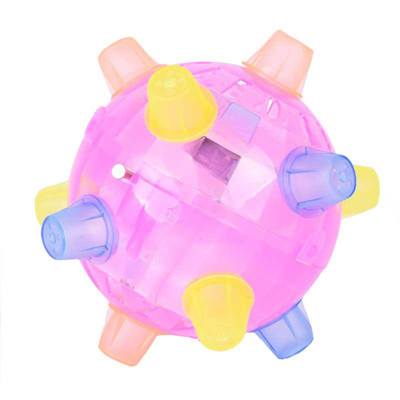 Flash Music Bouncing Dancing Ball Toys Children Creative Gifts - multicolor