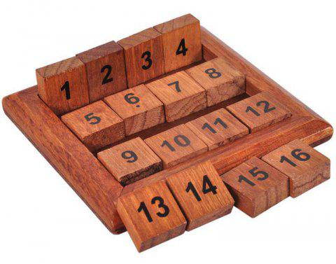 Digital Puzzle Toy Horizontal Or Vertical Sum Equal Thirty-four - BROWN