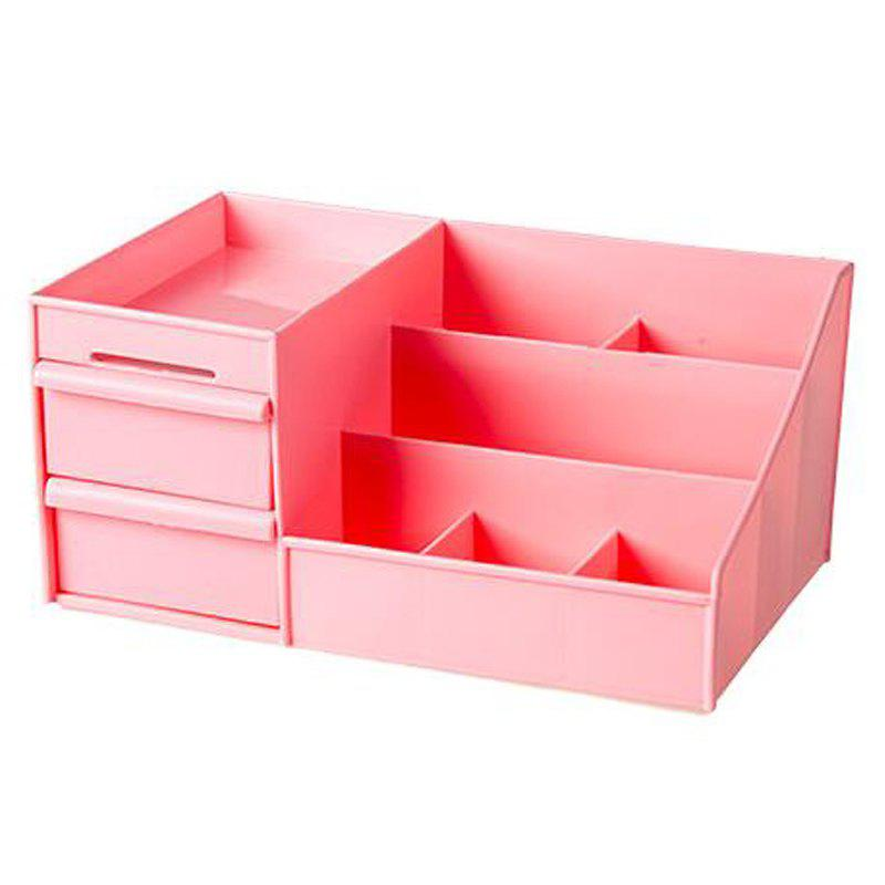 Drawer Type Multi Format Storage Box - BEAN RED