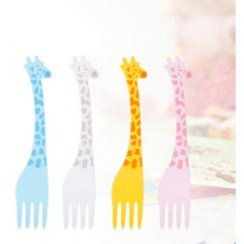 Cute Animal Shape Fruit Fork for Birthday Party 12PCS - multicolor
