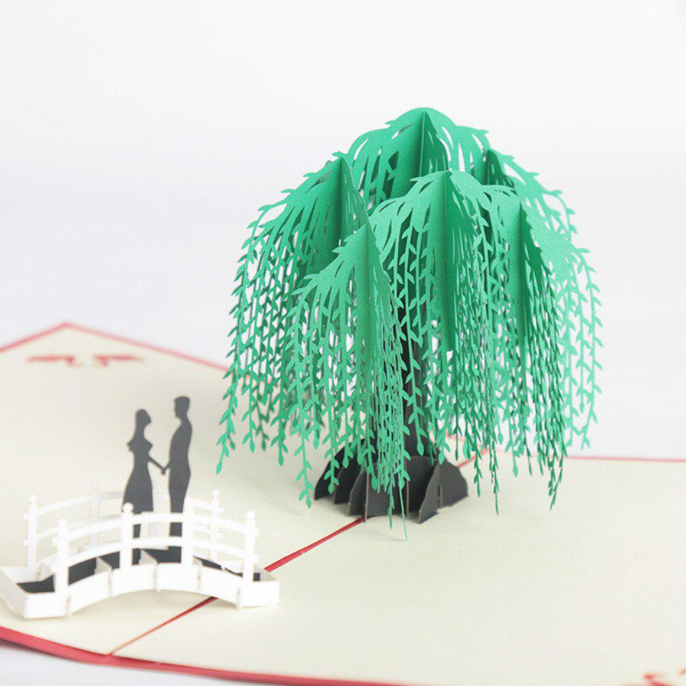 3D Card  Handmade Spring Tree - GREEN