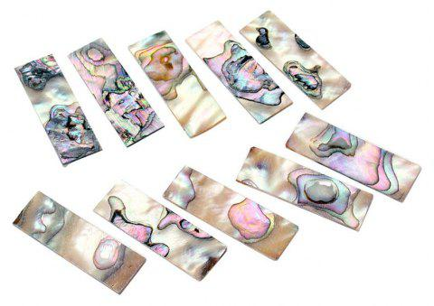 Inlays Material for Guitar Fingerboard Neck Color Shell Block 10PCS - multicolor A