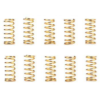 Steel Compression Y Shape Extension Springs Rustproof Electrical Spring 200PCS - GOLD