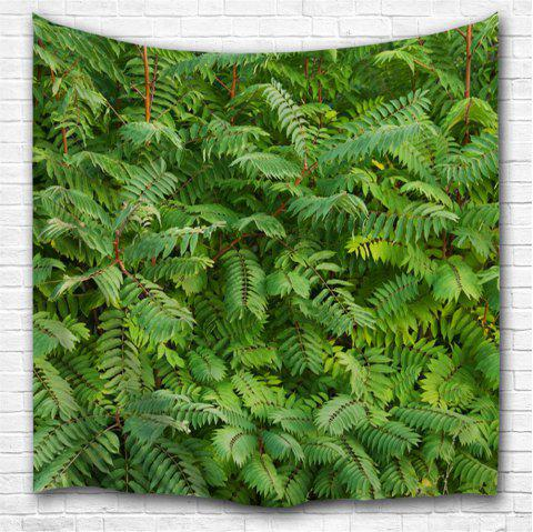 Green Leaf 3D Printing Home Wall Hanging Tapestry for Decoration - multicolor A W229CMXL153CM