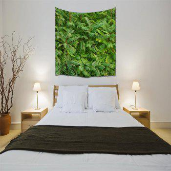 Green Leaf 3D Printing Home Wall Hanging Tapestry for Decoration - multicolor A W153CMXL102CM