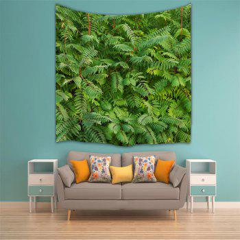 Green Leaf 3D Printing Home Wall Hanging Tapestry for Decoration - multicolor A W153CMXL130CM