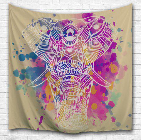 Dream White Elephant 3D Printing Home Wall Hanging Tapestry for Decoration - multicolor A W153CMXL130CM
