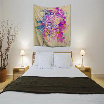 Dream White Elephant 3D Printing Home Wall Hanging Tapestry for Decoration - multicolor A W200CMXL180CM