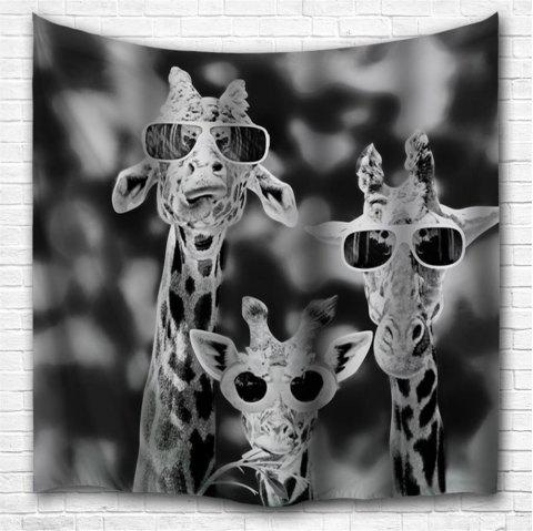 Sunglasses Giraffe 3D Printing Home Wall Hanging Tapestry for Decoration - multicolor A W203CMXL153CM