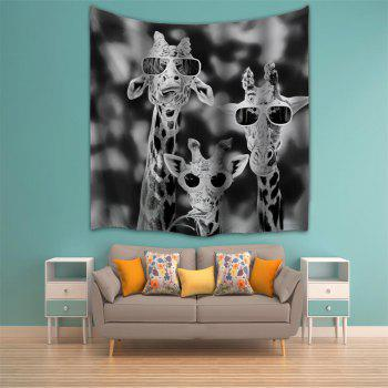 Sunglasses Giraffe 3D Printing Home Wall Hanging Tapestry for Decoration - multicolor A W200CMXL180CM