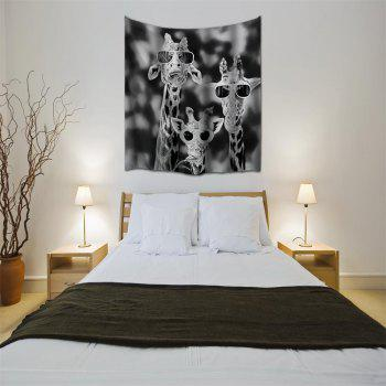 Sunglasses Giraffe 3D Printing Home Wall Hanging Tapestry for Decoration - multicolor A W229CMXL153CM