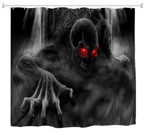 Red Eye Demon Water-Proof Polyester 3D Printing Bathroom Shower Curtain - multicolor A W59 INCH * L71 INCH