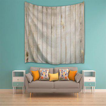 Wood Door 3D Printing Home Wall Hanging Tapestry for Decoration - multicolor A W153CMXL130CM