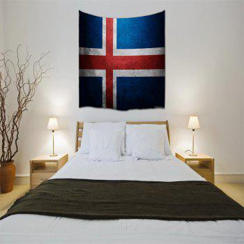 Cross Flag 3D Printing Home Wall Hanging Tapestry for Decoration - multicolor A W153CMXL130CM