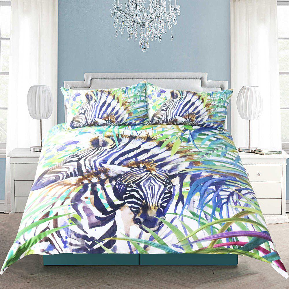 Wild Animal Bedding  Duvet Cover Set Digital Print 3pcs - multicolor QUEEN