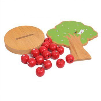 Wooden Baby Puzzle Toy Magnetic Fruit Tree - multicolor