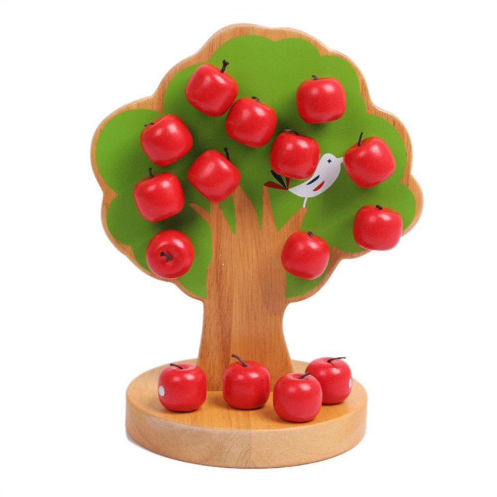 Wooden Baby Puzzle Toy Magnetic Fruit Tree digital fruit tree style wooden magnetic maze toy green