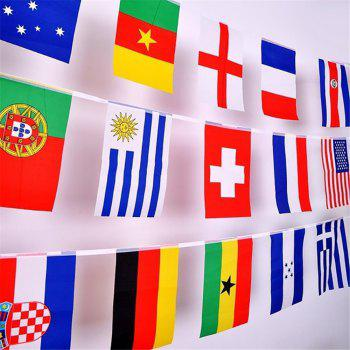 32 Strong Watermark Double-Sided Fade String Flags - multicolor