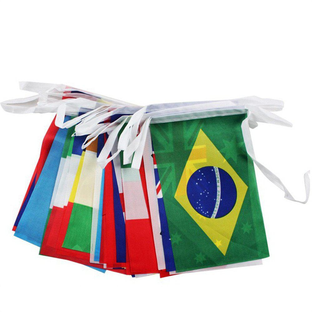 32 Strong Watermark Double-Sided Fade String Flags waugh e put out more flags