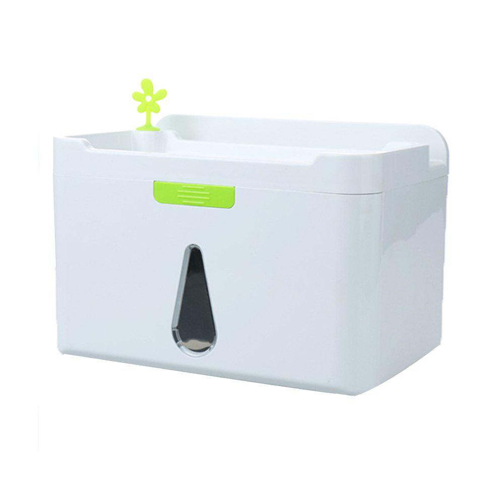 Hollow Drip Tissue Storage Box - WHITE