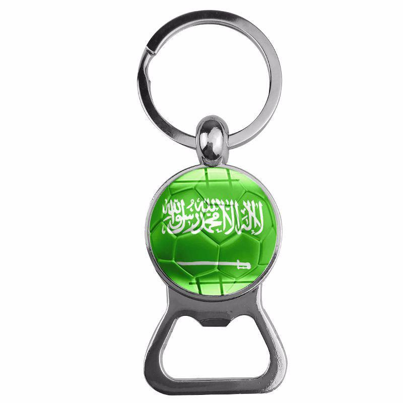 Beer Opener Football Keychain - GREEN