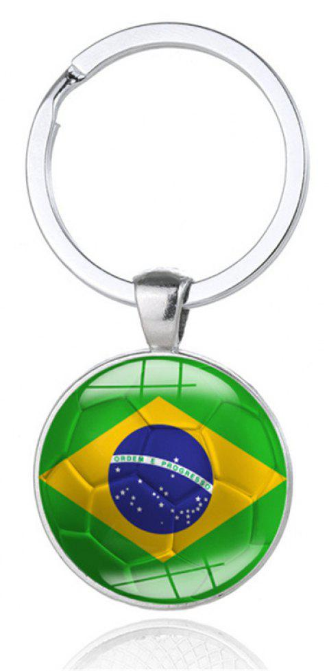 National Flag Football Keychain - multicolor A