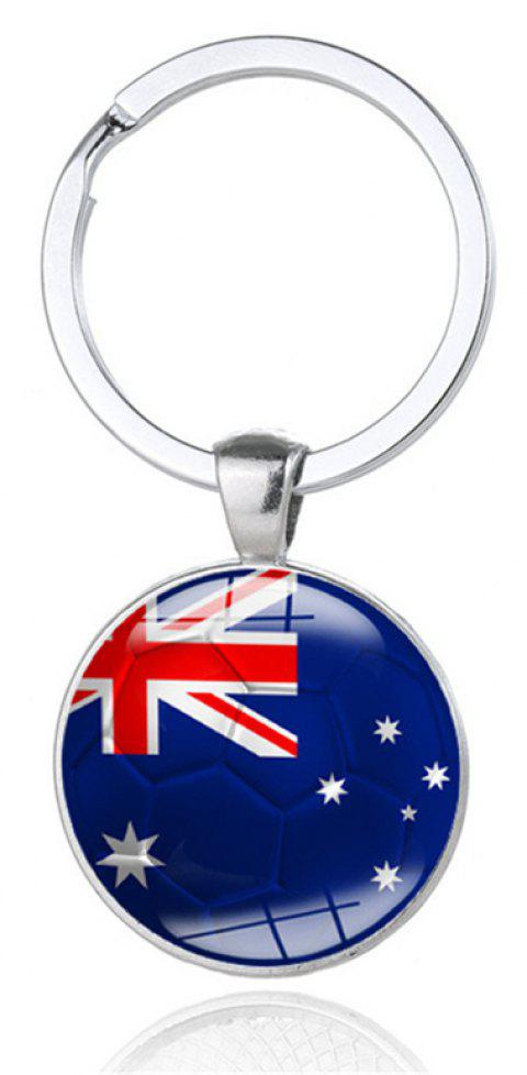 National Flag Football Keychain - multicolor F
