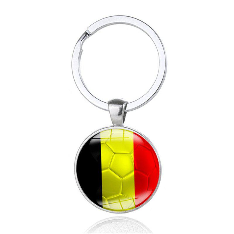 National Flag Football Keychain - multicolor C