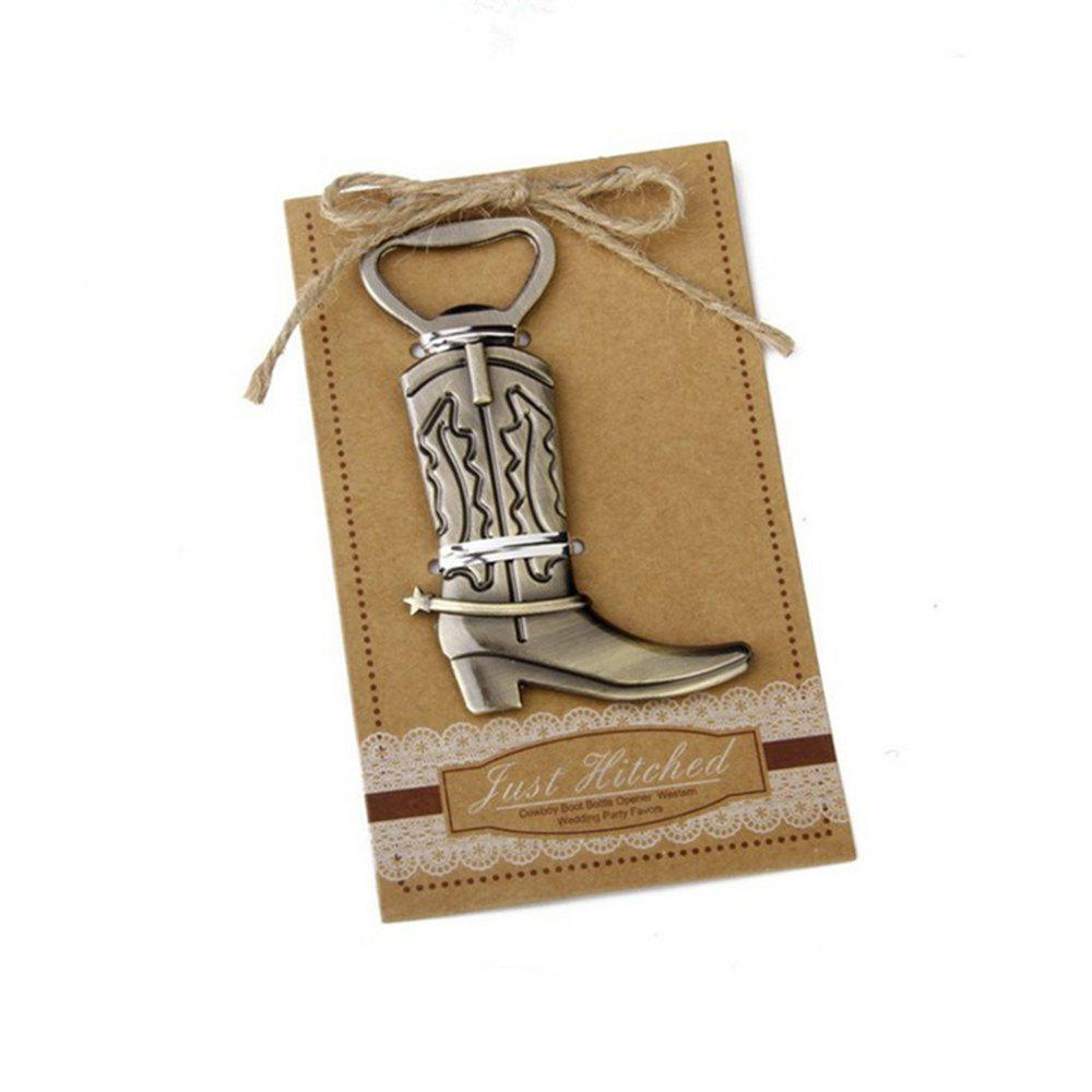 Creative Vintage Bronze Alloy Boot Opener - BRONZE