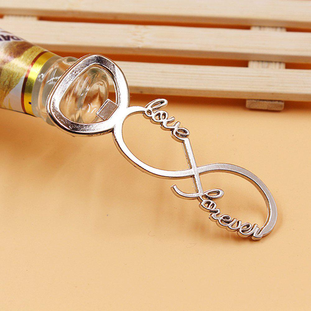 Creative Alloy Eight Character Beer Bottle Opener - SILVER