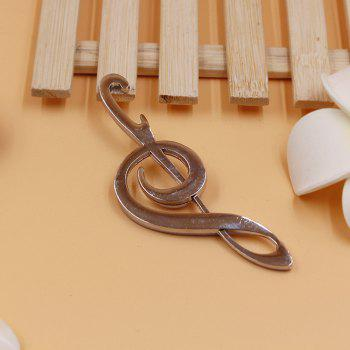 Creative Personality Note Shape Beer Opener - SILVER
