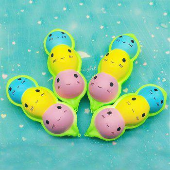 Jumbo Squishy Simulation Color Pea Doll Pendant 1PC - CHARTREUSE
